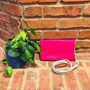 Handbags - Hot pink foldover crossbody